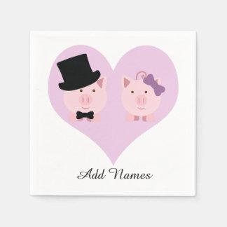 Serviettes Jetables Couples mignons de porc