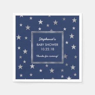 Serviettes Jetables Décor de baby shower de scintillement d'étoiles