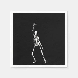 Serviettes Jetables Disco dansant la serviette de squelette de