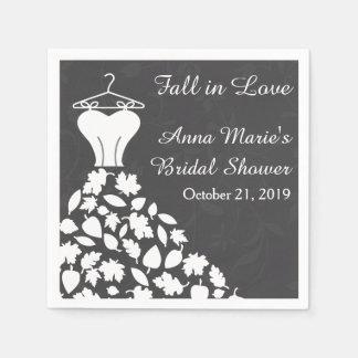 Serviettes Jetables Douche nuptiale de robe de mariage de feuille