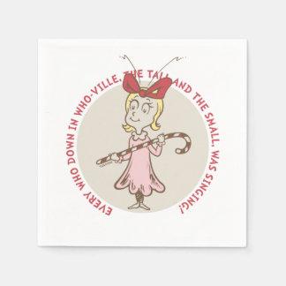Serviettes Jetables Dr. Seuss | le Grinch | Cindy Lou qui - citation