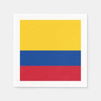 Serviettes Jetables Drapeau : La Colombie