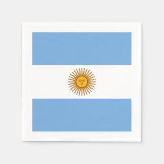 Serviettes Jetables Drapeau : L'Argentine