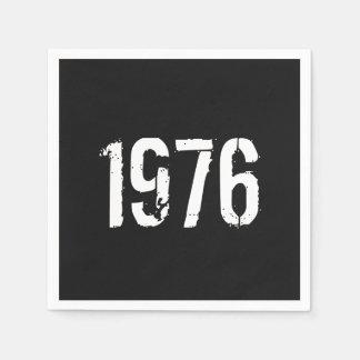 Serviettes Jetables En 1976 anniversaire soutenu