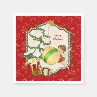 Serviettes Jetables Fée de magie de Noël