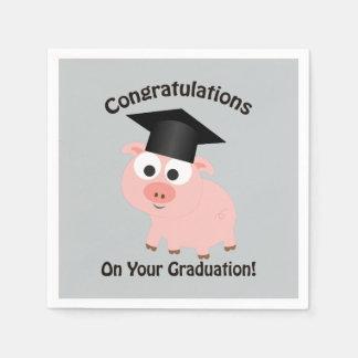 Serviettes Jetables Félicitations sur votre obtention du diplôme !