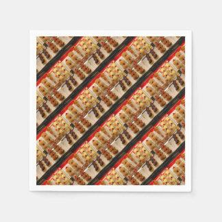 Serviettes Jetables Festins de bonbon sur l'affichage sans un