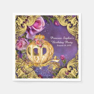 Serviettes Jetables Fête d'anniversaire de princesse de conte de fées