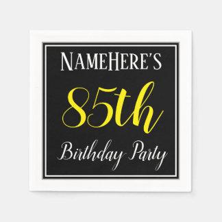 Serviettes Jetables Fête d'anniversaire simple et 85th avec le nom