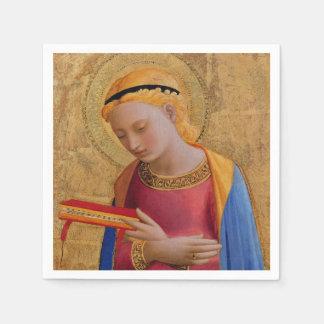 Serviettes Jetables Figure sainte chrétienne d'or vintage