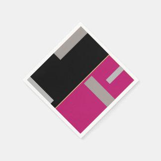 Serviettes Jetables Géométrique