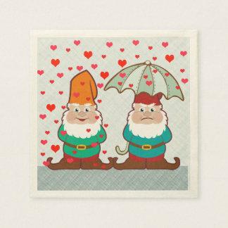Serviettes Jetables Gnomes heureux et grincheux