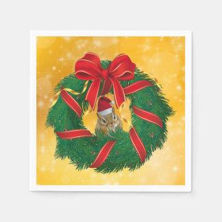 Serviettes Jetables Guirlande mignonne de Noël de tamia
