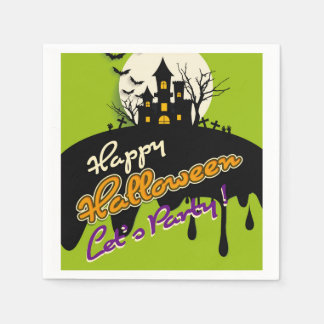 Serviettes Jetables Halloween Napking