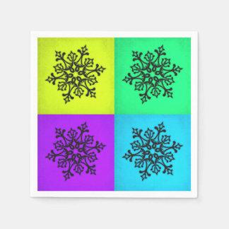 Serviettes Jetables Hiver de quatre flocons de neige