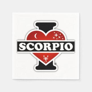 Serviettes Jetables J'aime le Scorpion