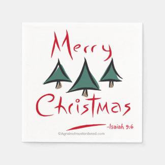 Serviettes Jetables Joyeux Noël