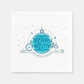 Serviettes Jetables Joyeux Noël. Serviettes de papier de cocktail