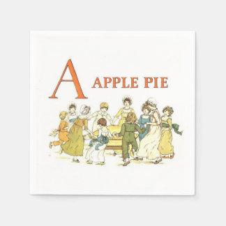 Serviettes Jetables L'alphabet vintage marque avec des lettres les