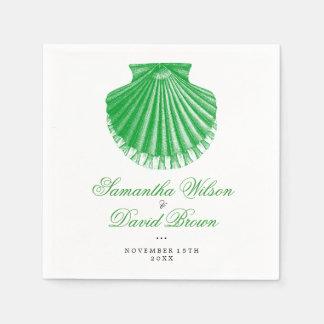 Serviettes Jetables Le feston Shell vintage de mariage de plage