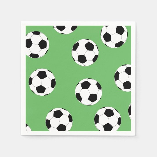 Serviettes Jetables Le football par Happy Juul Company