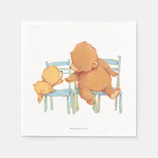 Serviettes Jetables Le grand ours de Brown aide peu ours jaune