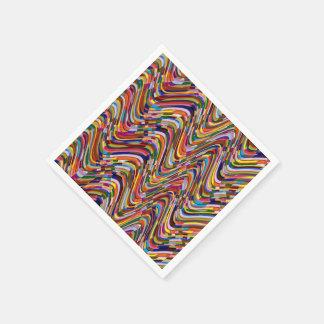 Serviettes Jetables Le modèle acrylique de texture de couleur AJOUTENT