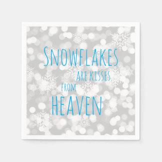 Serviettes Jetables Les flocons de neige sont des baisers de ciel