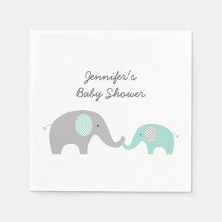 Serviettes Jetables Les serviettes mignonnes d'éléphant monnayent le
