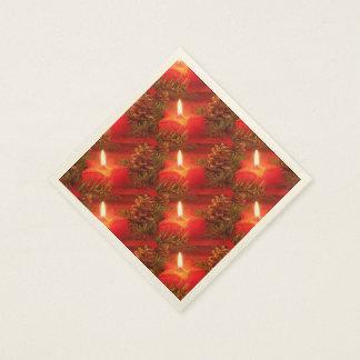 Serviettes Jetables L'étoile rouge de Noël mire les serviettes de