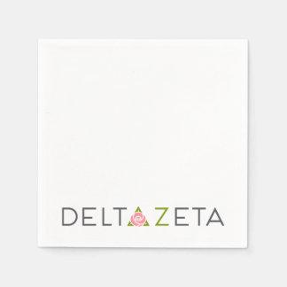 Serviettes Jetables Logo primaire de Zeta de delta
