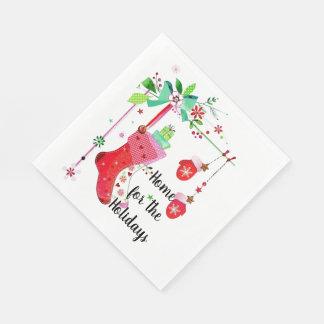 Serviettes Jetables Maison pour les serviettes de vacances de Noël de