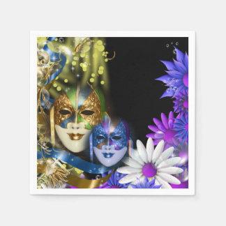 Serviettes Jetables Masques vénitiens de quinceanera de mascarade