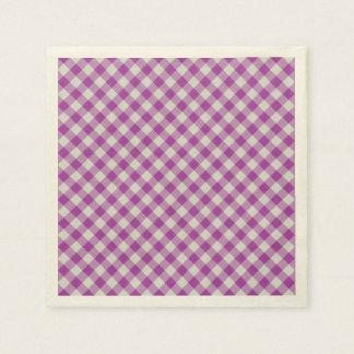 Serviettes Jetables motif coloré géométrique de coton