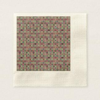 Serviettes Jetables Motif coloré vintage décoratif avec le patchwork