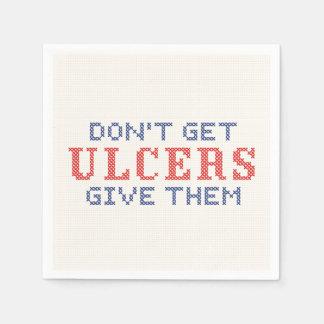 Serviettes Jetables N'attrapez pas les ulcères