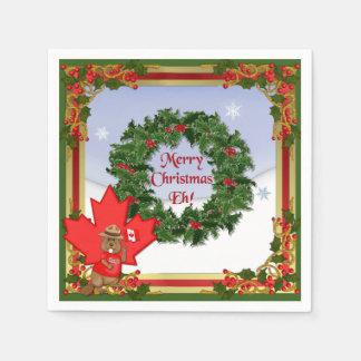Serviettes Jetables Noël canadien