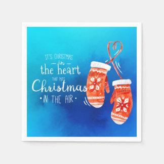 Serviettes Jetables Noël élégant dans la serviette du coeur |