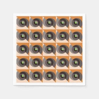 Serviettes Jetables Oeil des rétros serviettes abstraites de cocktail