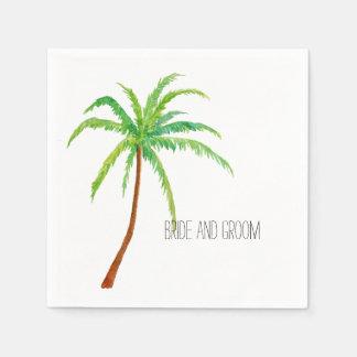 Serviettes Jetables Palmier tropical de plage