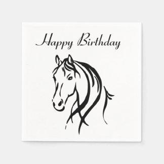 Serviettes Jetables Partie animale de thème de cheval