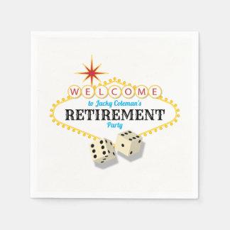 Serviettes Jetables Partie de retraite de chapiteau de Las Vegas