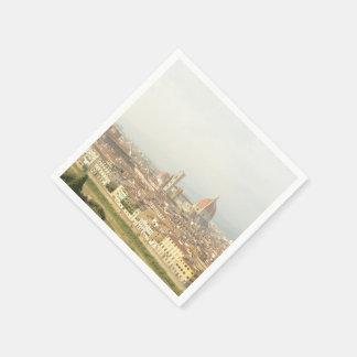 Serviettes Jetables Paysage urbain de Florence ou de Firenze Italie