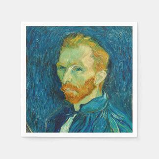 Serviettes Jetables Peinture 1889 d'autoportrait de Vincent van Gogh