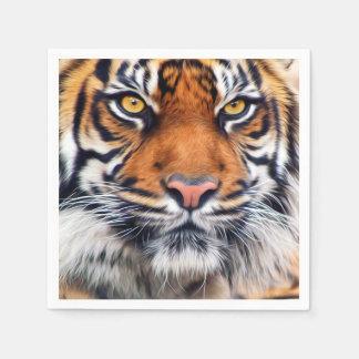 Serviettes Jetables Photographie masculine de peinture de tigre