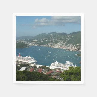 Serviettes Jetables Port aux Îles Vierges américaines de St Thomas