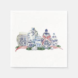 Serviettes Jetables Pots de gingembre de Noël par Redux121DesignStudio