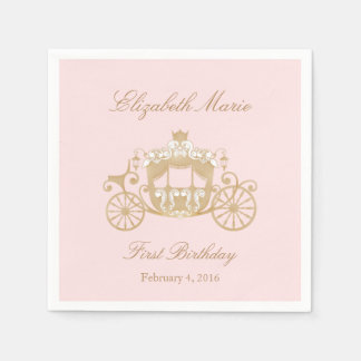 Serviettes Jetables Princesse Carriage Napkins