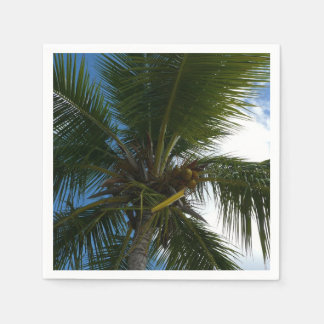 Serviettes Jetables Recherche à la nature tropicale de palmier de noix