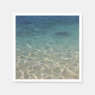 Serviettes Jetables Rivage tropical de plage d'été